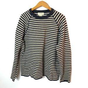 JCREW vintage striped Lambswool sweater Sz L